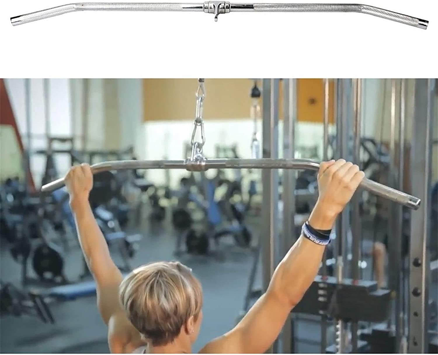 JSQC Bodybuilding Matching Revolving Hanger with Mail order Curl Portland Mall Non-Sl Bar