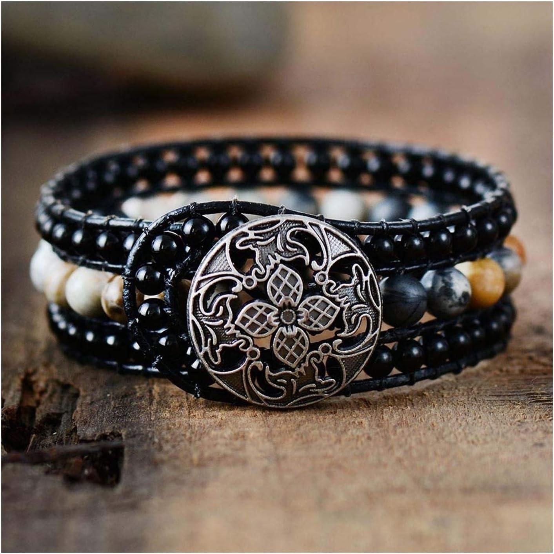 AOSUAI Boho 70% OFF Outlet Cuff Bracelet Unique Leather Bracelets Wrap Handmade Selling and selling