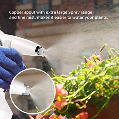 ACG-INC Electric Plant Mister Spray Bottle for Indoor/Outdoor Plants, Electric Watering Can with Adjustable Copper Spout, Aut