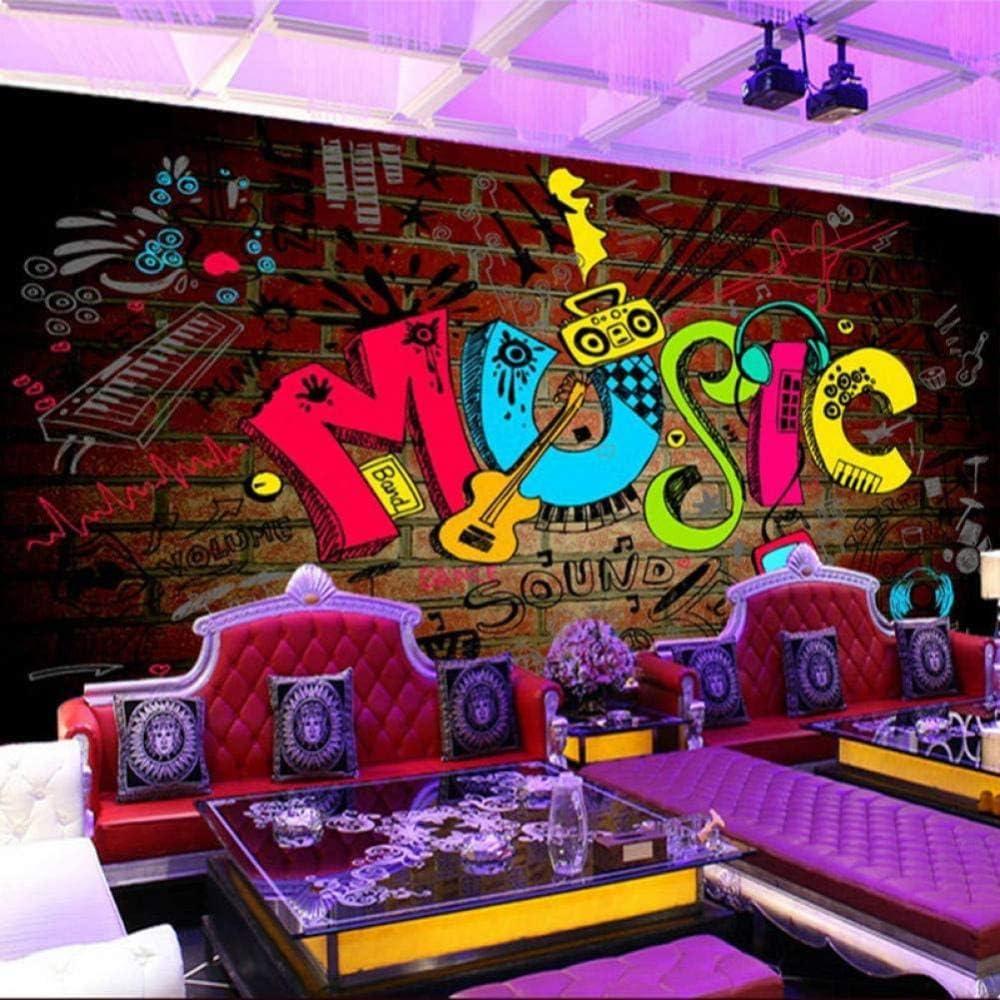 RTYUIHN KTV Bar Cafe Fashion Symbol Bombing free shipping 3D Ranking TOP9 Music Wallpaper