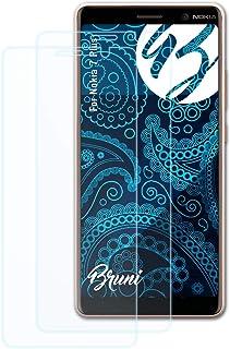 Bruni Skärmskydd är kompatibel med Nokia 7 Plus Film, kristallklart Skyddsfilm (2X)