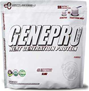 GENEPRO Protein: 45 Servings, Premium Protein for Absorption, Muscle Growth and Mix-Ability.
