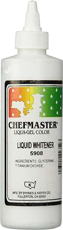 Chefmaster Liquid Whitener Food Color 16 Ounce White