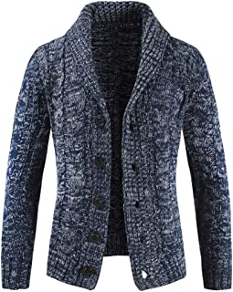 XLDD Mens Knit Cardigan Lightweight Warm Knitwear Button Knitted Cardigan Sweater Comfortable Knitted Jacket Classic Desig...