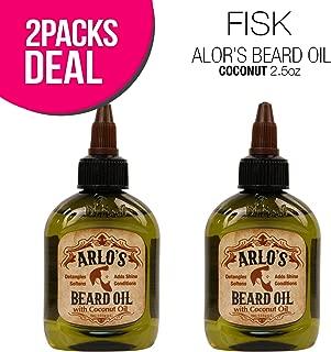 (2 PACK) FISK Original Arlo`s Beard Oil 2.5oz (Coconut)