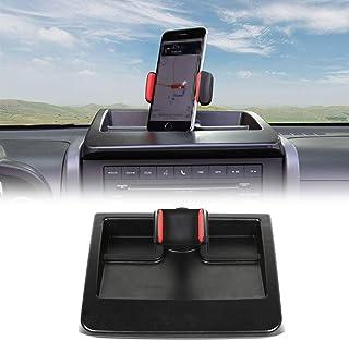 CheroCar JK Cellphone Dash Multi-Mount Phone Holder Stoage Tray System Kit fits for 2007-2011 Jeep Wrangler JK JKU, Organizer Box Interior Accessories, Black/Red