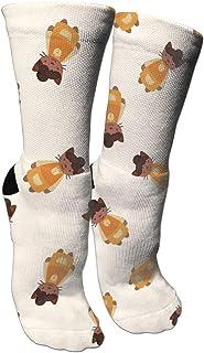 靴下 抗菌防臭 ソックス 美しい猫シェフアスレチックスポーツソックス、旅行&フライトソックス、塗装アートファニーソックス30センチメートル長い靴下