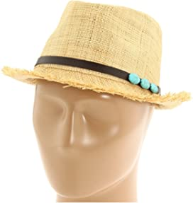 b0ee35ecb90 Tommy Bahama Paper Braid Fedora with Sequins Trim at Zappos.com