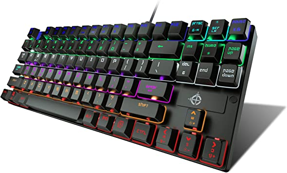STOGA Teclado Americano Mecánico,Teclado Gaming con USB Cable ...