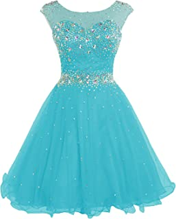 Belle House Women's Short Beading Homecoming Dress for Juniors A Line Prom Ball Gown