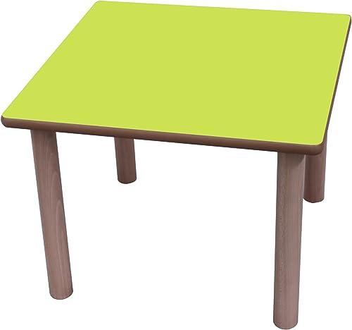 Mobeduc Kindertisch, quadratisch, Holz 60 x 6cm  , Größe 2 Haya y Grün manzana