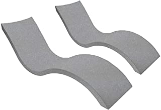 Ledge Lounger in-Pool Chaise Lounge for 0-9 in. of Water (Set of 2, Granite Gray)