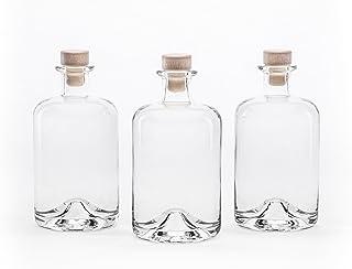 slkfactory N°1 Lot de 3, 4, 6ou 10bouteilles en verre vides de 500ml (soit 0,5l)- Fioles de pharmacien- Flacons en ...