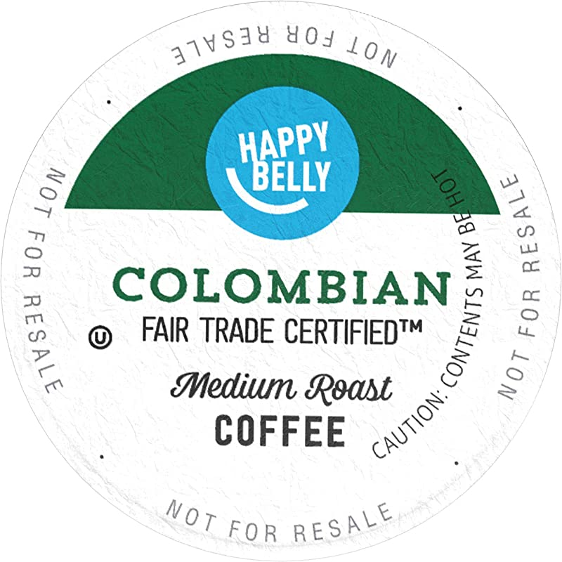 Amazon Brand 100 Ct Happy Belly Medium Roast Coffee Pods Colombian Compatible With Keurig 2 0 K Cup Brewers
