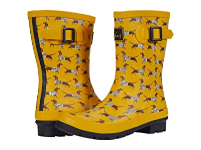Joules Molly Welly (Yellow Sausage Dog) Women