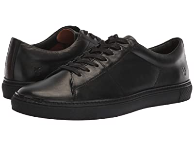 Frye Essex Low Folded Edge (Black Polished Soft Full Grain) Men