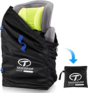 TAOCOCO Car Seat Travel Bag, Gate Check Bag for Family Travel with Baby, Airline Easy Carry Carseat Bag Stroller Car Seat Travel Bag