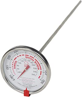 """Chef Craft Select Deep Fryer or Candy Thermometer, 15.5"""", White"""