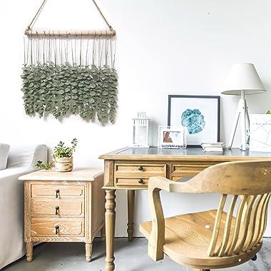 15pcs Artificial Eucalyptus Greenery Hanging Wall Decor, Artificial Garlands Plants with Wood Stick, Farmhouse Rustic Boho De