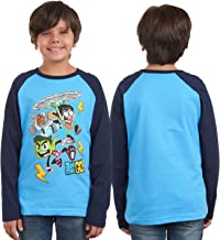 Teen Titans Go Cartoon Boys Long Sleeve Costume Raglan Printed T-Shirt for Kids