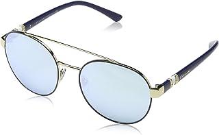 Bulgari 0BV6085B 20206J 55 Gafas de sol Azul (BluettePale GoldBlueemirrorwhite) Unisex-Adulto