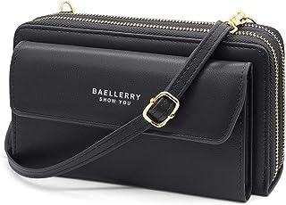 HNOOM Handy Umhängetasche Damen Handytasche zum Umhängen Handy Schultertasche Brieftasche Klein Crossbody Tasche Handy Gel...