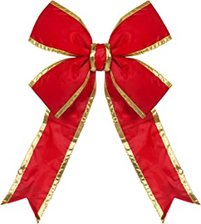 Big Red Bow - Large Outdoor Christmas Bow Commercial Christmas House Decorative Bow (18
