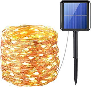 Solar String Lights, ShowTop 200 LED Fairy Lights 8 Modes 3-Strands Copper Wire 20 Meters Waterproof IP65 Solar String Lig...