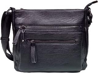 BINCCI Leather Crossbody Bag Women's Shoulder Handbag Purse for Work, Leisure, Travel BL001A