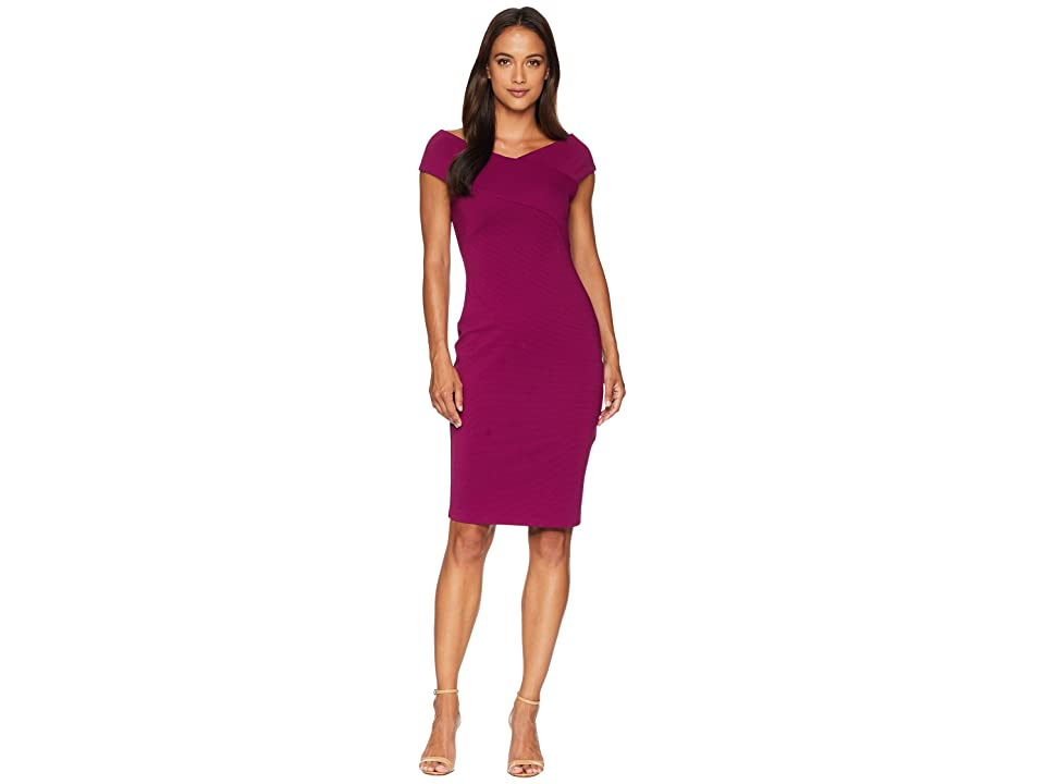 Adrianna Papell Petite Daphne Ottoman Sheath Dress (Wildberry) Women