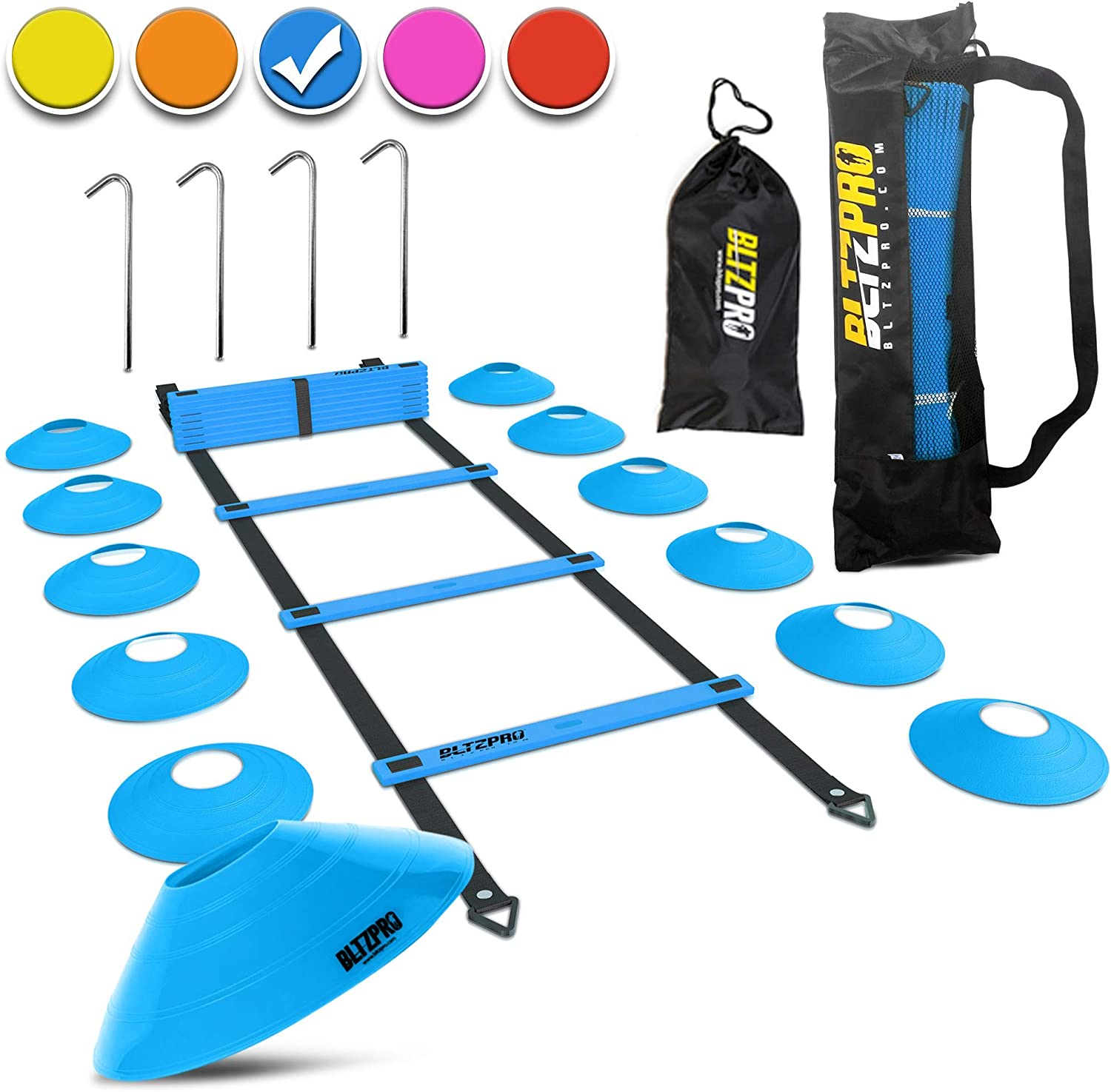 Bltzpro Memphis Mall Football and Soccer Training Equipment Agility Max 81% OFF Cones -