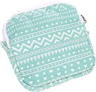 DZT1968 Women Girl Cute Sanitary Pad Organizer Holder Napkin Towel Bags (Green)