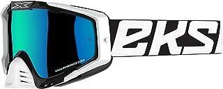 EKS Brand EKS-S Goggle 2018 Black/White/Blue & Blue Mirror Lens