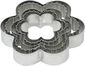 Mrs. Anderson's Baking Crinkle Cookie and Fondant Cutters, Flower-Shaped, 5-Piece Graduated Cutters