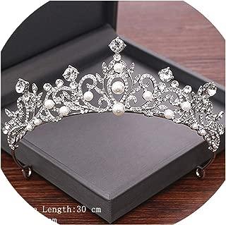 Newest Rhinestone Bride Tiaras and Crown Wedding Hair Accessories Bridal Crown Silver Color Wedding Crystal Tiara Headpiece,Silver6