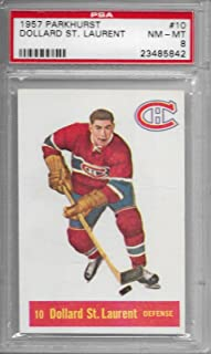 1957-58 Parkhurst Hockey Dollard St. Laurent Card # 10 PSA 8 NM-MT