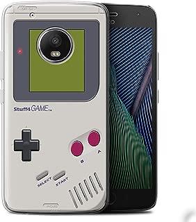 Phone Case for Motorola Moto G5 Plus Games Console Nintendo Game Boy Design Transparent Clear Ultra Soft Flexi Silicone Gel/TPU Bumper Cover