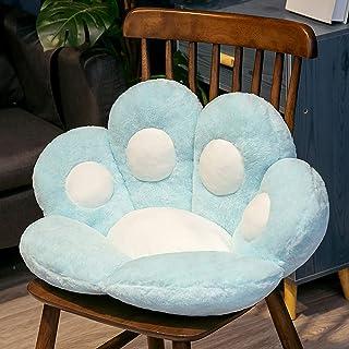 lindo cojín de asiento con forma de pata de gato, cojín de felpa para silla con pata de gato, cojín trasero Cómodo taburete grueso Cojín de oficina a tope