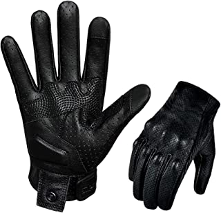 Updated Goatskin Leather Motorcycle Gloves Men...