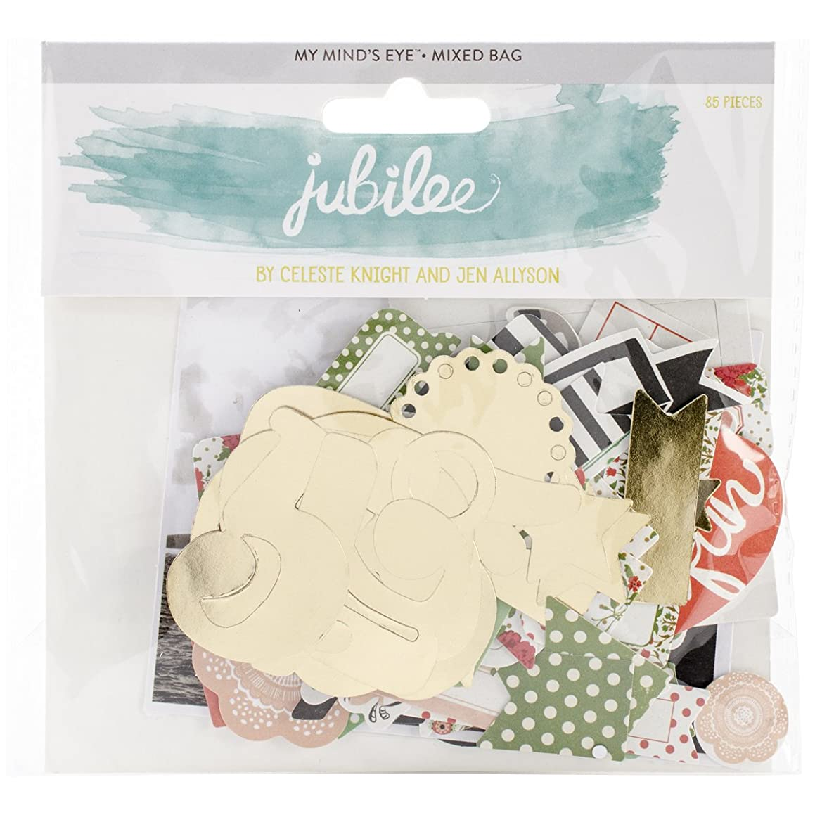 My Mind's Eye Jubilee Mint Julep Mixed Bag Cardstock Die-Cuts, Beautiful