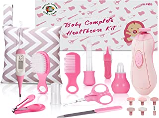 PelicanParrot, 18 PCs. Baby Essentials for Newborn, Baby Healthcare and Grooming Kit, Baby Medicine Dispenser, Baby Care Kit, Newborn Nursery Care Kit, Electric Nail Trimmers (Pink)…