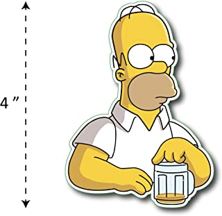 (TK-209) Simpson | Homer Drink Beer - Waterproof Vinyl Sticker for Laptops Tablets Cars Motocycles Bicycle Skateboard Luggage Or Any Flat Surface (4