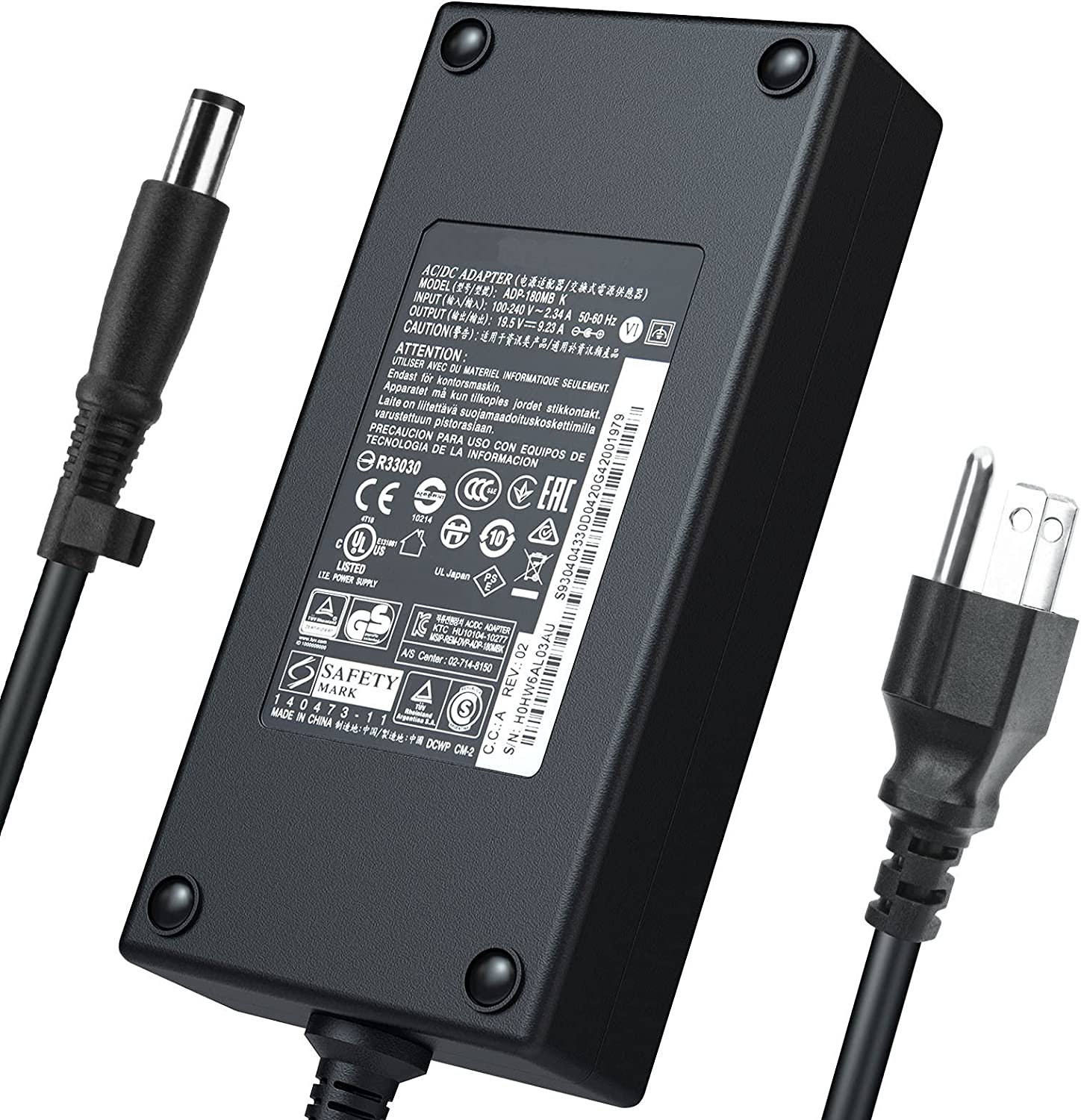 New Alienware 180W AC Japan free Maker Charger Fit 15 for 13 R1 Dell 17