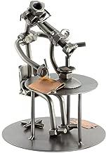 Steelman24 I Biólogo con Microscopio I Made in Germany I Idea para Regalo I Figura de metalo