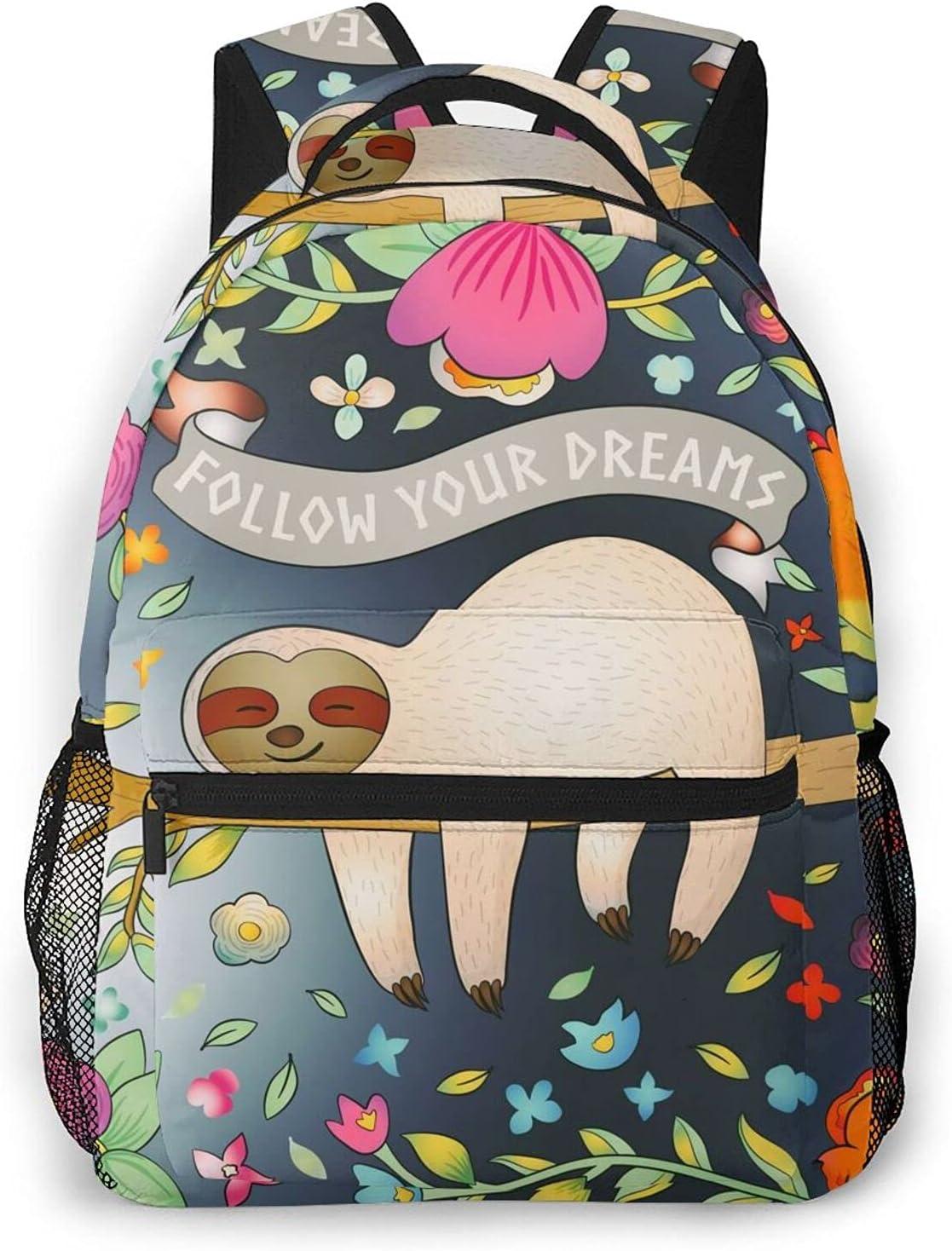 Baby Sloth Yoga Credence Backpack Laptop Daypack Hiking Shoulder Max 66% OFF