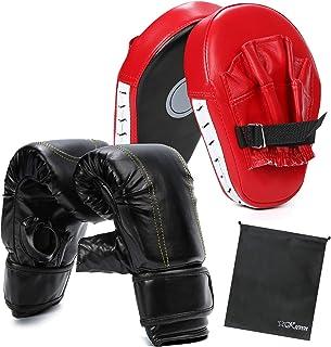 【ケーセブン】☆Kseven☆ ボクシング グローブ ミット セット ダイエット 在宅 トレーニング 親子 パンチンググローブ キックボクシング ユニセックス 収納袋つき