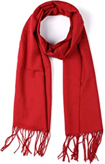 uxcell® Long Plaid Scarf Shawl with Tassel Winter Scarves for Women Men