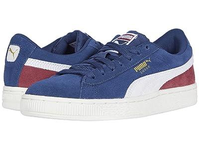 Puma Kids Suede Classic (Big Kid) (Dark Denim/Burnt Russet) Boys Shoes