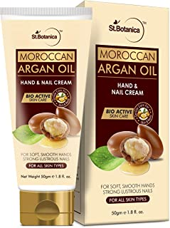 StBotanica Moroccan Argan Oil Hand and Nail Cream, For Soft, Smooth Hands & Strong Lustrous Nails, 50 g (STBOT557)