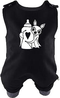 Eve Couture Babykleidung Baby Strampler Die Milchvampir-Bande - Noraly, die kleine Milchvampirin Unisex Rockabilly Rock´n Roll Gothic schwarz